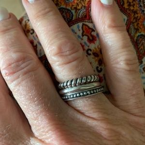 3 Stackable Sterling Silver rings